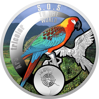 1$ 2016 Niue - SOS for the World - Ara Tricolor / Macaw