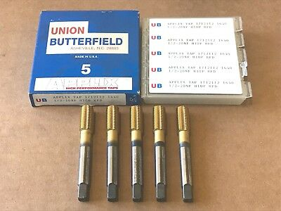 5 Union Butterfield 1/2-20NF Thread Forming Tap Plug Titanium USA Made
