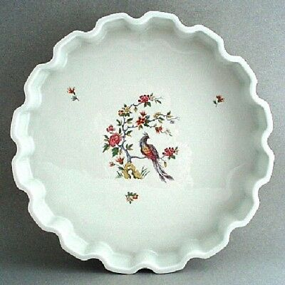 "French Porcelain Birds Of Paradise 12.5"" Round Baker Birks"