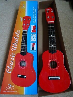 """Classic 21"""" Red Ukulele - Ready Ace - Excellent Condition In Its Box!"""