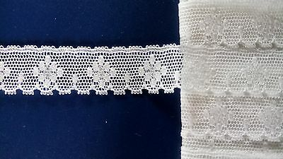 Off White Cluny Pretty Cotton Lace Edging Dresses Trimmings Dolls Clothes Trims