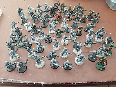 Warhammer 40k mix lot of 70 ish Cadian fighters
