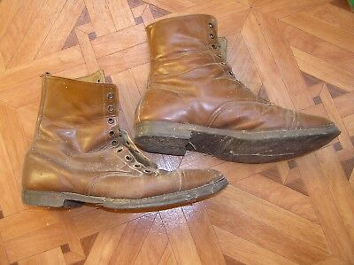 Dachbodenfund vintage military schuhe MADE in ENGLAND size 10