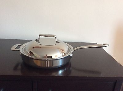 All Clad d5 Covered Stainless Steel Sauté Pan ,3qt NEW