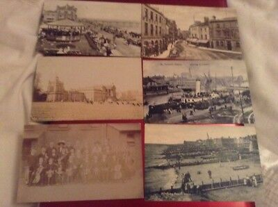 50 Black & White Postcards With Stamps Over 100 Yrs Old