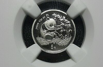 1994 5 Yuan 1/20th Platinum China Panda Rare NGC PR67 Ultra Cameo