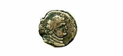 DS-Titus, AE22 of Ascalon, Judea, AE22, Laureaded head of Titus / Tyke on prow,