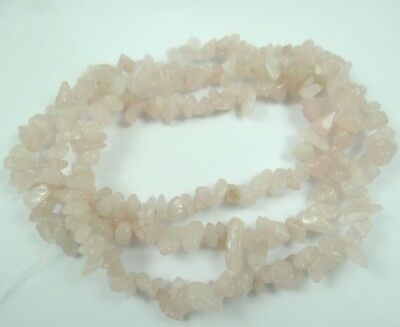 Natural Rose Quartz Chip Shape 5-10mm DIY Jewelry Making Necklace 17''