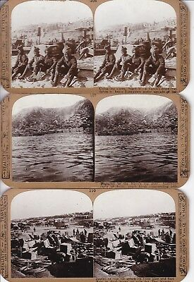 Gallipoli Landings - Ten Stereoscopic View Cards, Soldiers, Ships Etc - Rare !