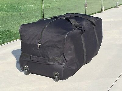 Luggage Bag Duffle Black Travel Moving Sports Hockey XL Roller Wheels Durable