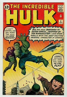 Incredible Hulk #3 NM+ 9.6 OW/W pages 1962 Marvel Silver age