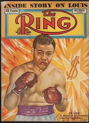 October 1950 The Ring magazine with Joe Louis cover