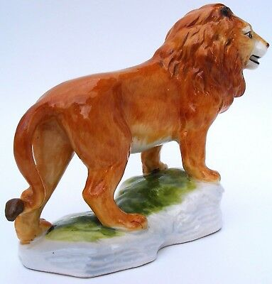 SITZENDORFER - Magnificent Lion - Felis Leo - on a Porcelain Base - 1950s'