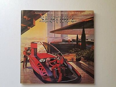SIGNED Syd Mead Book SENTINEL USS Steel Futuristic Automotive Drawing 1979