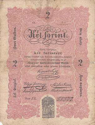 2 Forint Fine Banknote From Hungarian Rebell Government 1849!pick-S112