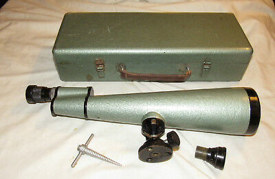 PZO L40 & 64 old spotting scope sighting scope Made in Poland military?  in case