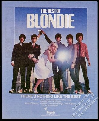 1981 Blondie photo The Best Of album release vintage print ad