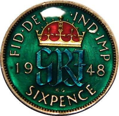 WCA Enamelled Sixpence 1948 Great Britain