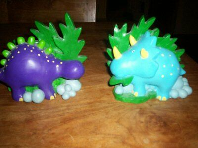 A Pair Of Childrens Dinosaur Bookends