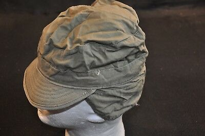 Korean War US Army Cap Field Cotton OD w/ Visor M1951 MASH Size 6 3/4 Good #12