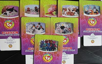 Rare Collection 8 Large Limited Ty Beanie Babies Cards 1998 Mint Gift Party Bags