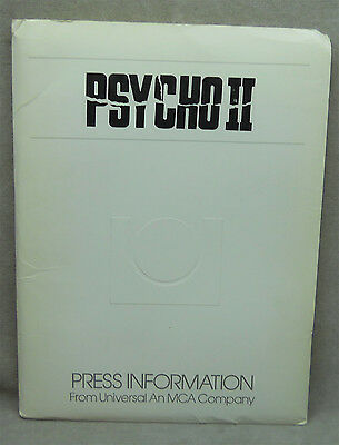 1983  Movie Press Kit Psycho II Anthony Perkins.