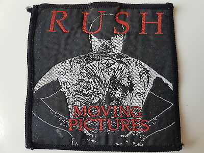 Rush Original Vintage Woven Patch Moving Pictures Heavy Metal Rock