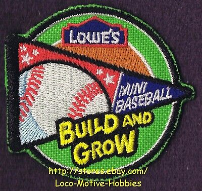 LMH PATCH Badge MINI BASEBALL Ball Pennant Sport Build Grow LOWES Project Series