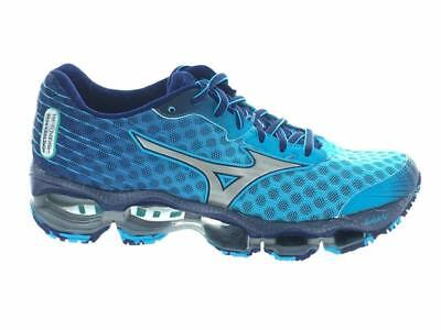 Women's Mizuno Wave Prophecy 4 Athletic Running Shoes Blue Atoll Silver Size 6