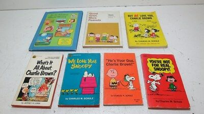 Lot of 7 Vintage 1960's and 70's Charlie Brown Children's Books