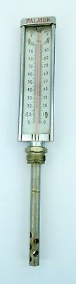 Palmer Vintage Industrial Thermometer 0-100 Degrees Fahrenheit Boiler Steampunk
