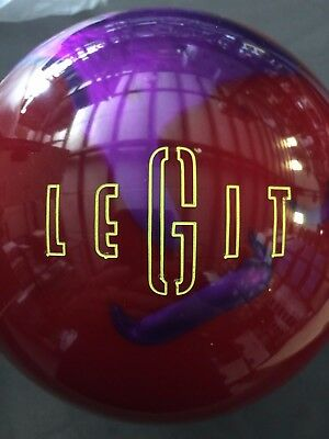 New 15lb AZO Legit Red/Purple Bowling Ball Undrilled