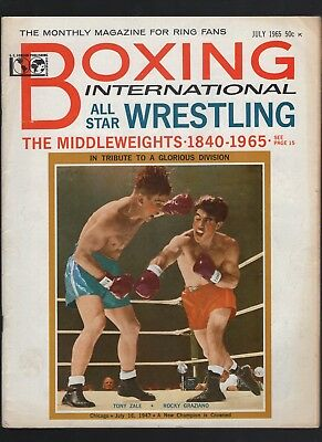 July 1965 Boxing  magazine with Tony Sale & Rocky Graziano  cover