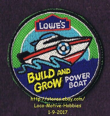 LMH PATCH Badge 2009 POWER BOAT Motor Ship Build Grow LOWES Project Kids Clinic