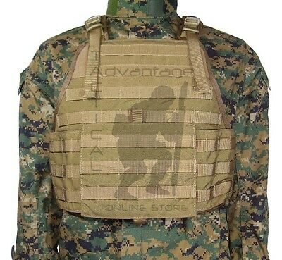 Eagle MOLLE LE Plate Carrier W/Cummerbund - USMC coyote brown LG/XL