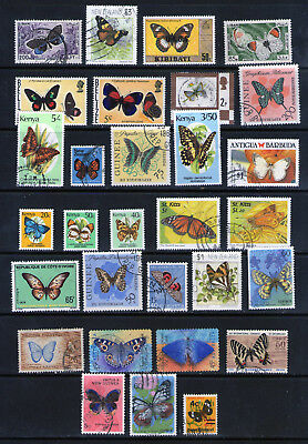 """Selection of stamps depicting """"Butterflies"""".     79p ask."""
