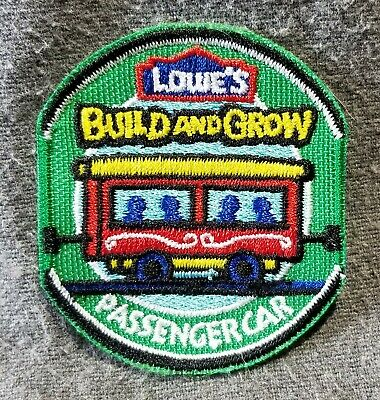 LMH PATCH Badge 2010 TRAIN PASSENGER CAR Coach  LOWES Build Grow Clinic green