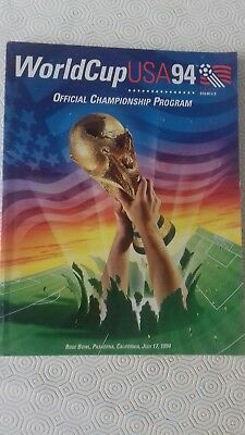 world cup USA 94 official championship programme