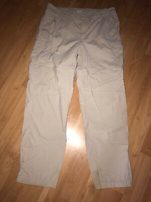 """Columbia Pfg Pants Large Mint Condition Zips To Shorts 31"""" Inseam Omni Shade"""