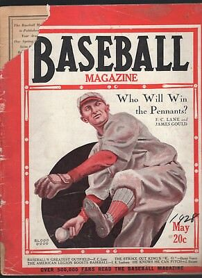 May 1928  Baseball Magazine with Dazzy Vance  cover