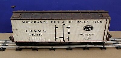 Vintage Standard Gauge NYC LS&MS Wood Reefer Full Scale Craftsman Built wood Car