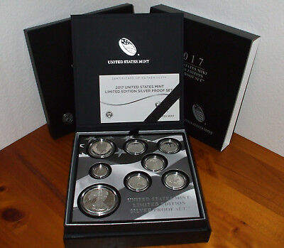 "U S Mint Limited Edition 2017 Silver Proof Set 17RC-RARE ""S"" Mark American Eagle"