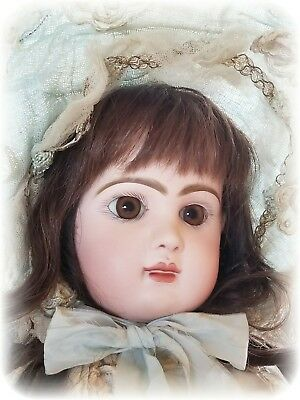 Antique French Tete Jumeau Bebe Bisque Doll Closed Mouth Medaille D'Or Body
