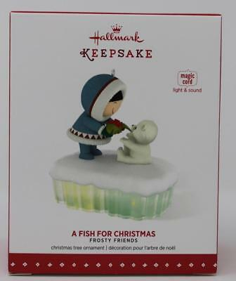 2015 Hallmark Keepsake Magic Cord Ornament A Fish For Christmas Frosty Friends
