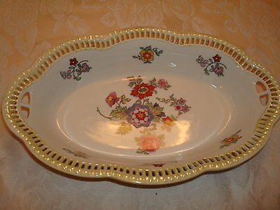 Antique Victorian Reticulated Porcelain Bowl