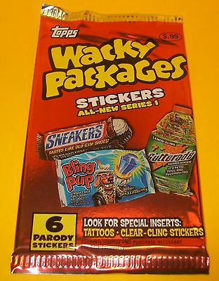 Vintage Topps RETRO WACKY PACKAGES~ANS1 Series 1~6 PARODY Trading Stickers Lot