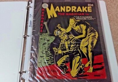 1948 Mandrake The Magician Comic Book 10 Cent Comic Owned By Artist Ed Lahmann