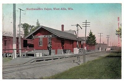 West Allis,wisconsin,milwaukee County,c&nw Railroad Depot,pm 1911