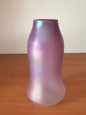 "Scarce Antique LOETZ Syrius Art Glass Vase Shaded Pint Violet 7"" Tall"