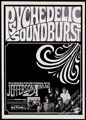 1967 Jefferson Airplane photo Somebody To Love record release vintage trade ad